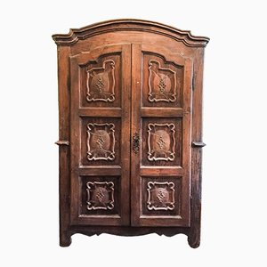 18th Century Piedmontese Wardrobe with 2 Doors