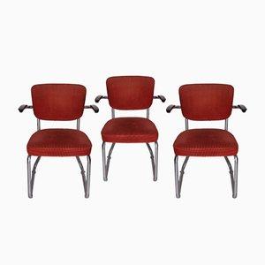 Chaise en Structure Tubulaire avec Accoudoirs par Friso Kramer pour Ahrend De Cirkel, 1962
