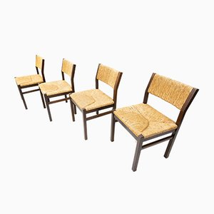 Rattan Dining Chairs by Martin Visser and Walter Antonis for t Spectrum Bergeijk, 1974, Set of 4