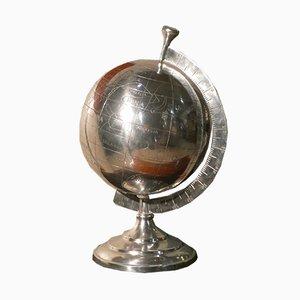 Globe Publicitaire Vintage en Acier