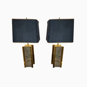 Chrome & Brass Table Lamps from Belgo Chrom / Dewulf Selection, 1970s, Set of 2