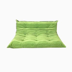 Green 3-Seat Togo Sofa by Michel Ducaroy for Ligne Roset