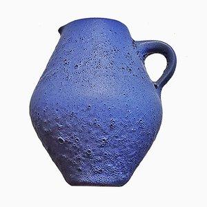 Mid-Century Blue Lava Vase by Siegfried Gramann for Gramann Römhild
