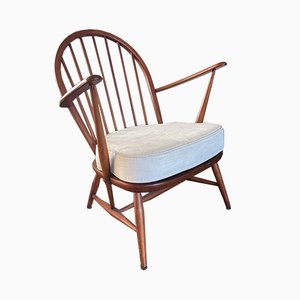 Scandinavian Style Spindle Back Easy Chair from Ercol, 1950s