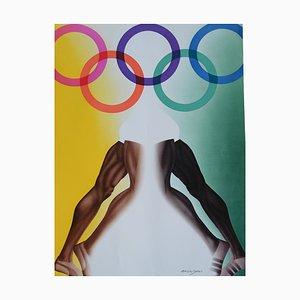 Affiche des Jeux Olympiques par Allen Jones pour Edition Olympia 1972 GmbH, 1970s