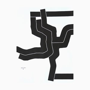 Olympic Games Poster by Eduardo Chillida for Edition Olympia 1972 GmbH, 1970s