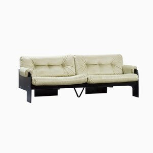 Italian Modern 3-Seater Sofa with Green Velvet Upholstery