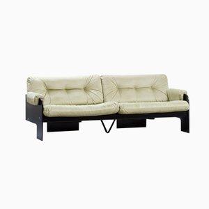 Italienisches Modernes Dreisitzer Sofa mit Grünem Samtbezug