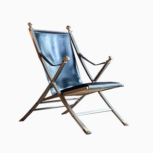 Mid-Century Campaign Folding Chair by Otto Parzinger for Maison Jansen, Paris, 1960s