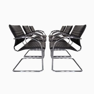Model S78 Cantilever Leather Armchairs by Josef Gorcia & Andreas Krob for Thonet, 1980s, Set of 6