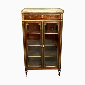 Louis XVI Mahogany Wall Unit with Gilded Bronze Decor
