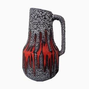 Große 408-40 Glasierte Keramik Vase von Scheurich, 1970er