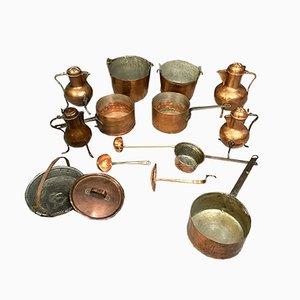 Copper Tableware Set, Set of 14