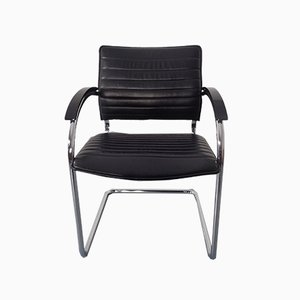 Model S78 Cantilever Leather Armchair by Josef Gorcia & Andreas Krob for Thonet, 1980s