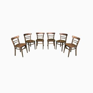 French Side Chairs, 1950s, Set of 6