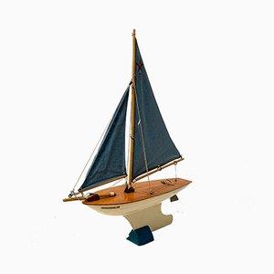 Mid-Century Sailboat Model from Star Yacht Birkenhead