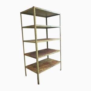Industrial Green Shelving Unit, 1960s