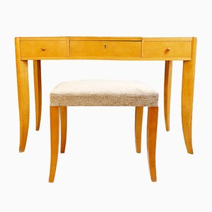 Vanity Table with Drawers & Bench from De Coene, 1940s
