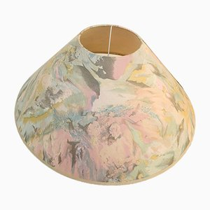Table Lamp with Base in Clay & Pastel Lampshade, 1980s