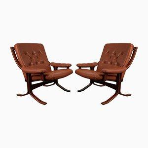 Norwegian Siesta Armchairs by Ingmar Relling for Westnofa, 1960s, Set of 2