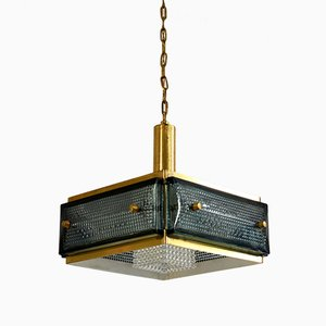 Mid-Century Brass Ceiling Lamp from Malmö Metallwarenfabrik