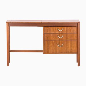 Vintage Teak Desk with Drawers & Storage Compartments by Geske