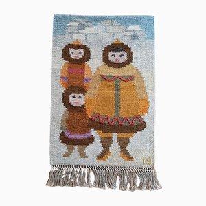 Igloo Wandteppich für Kinderzimmer von Ingegerd Silow für Eric Ewers AB, 1970er