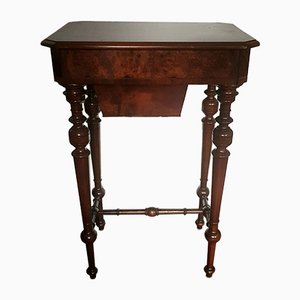 19th Century Victorian Sewing Table with Flap and Drawer