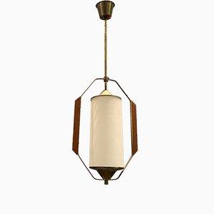 Deckenlampe aus Opalglas von Stilnovo, 1950er