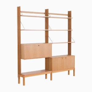 Scandinavian White Oak Shelving Unit by Torbjørn Afdal for Bruksbo, Norway, 1970s