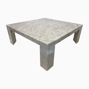 Italian White Marble Coffee Table, 1970s