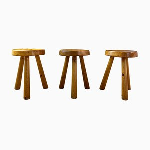 Stools by Charlotte Perriand, 1968, Set of 3