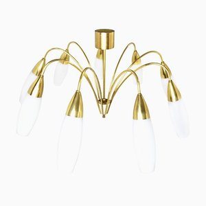 Large Mid-Century 9-Light Sputnik Chandelier from Kaiser-Leuchten