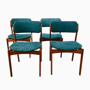 Mid-Century Teak OD49 Dining Chairs by Erik Buch for Odense Maskinsnedkeri / O.D. Møbler, Set of 4