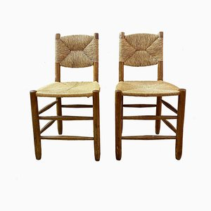 No. 19 Bauche Chairs by Charlotte Perriand for Sentou, 1960s, Set of 2