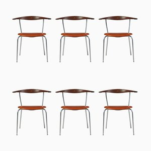 Dining Chairs by Hans Wegner for Johannes Hansen, Denmark, 1960s, Set of 6