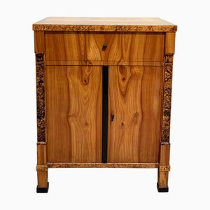 Neoclassical Biedermeier Half Cabinet in Cherry Veneer, South Germany, 1820s