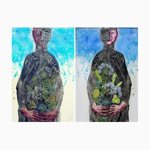 Le Printemps Painting 3D on Double Sided Lucite by Perez Petriarte, 2017