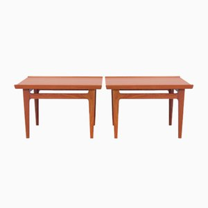 Teak Model 535 Side Tables by Finn Juhl for France and Son, 1960s, Set of 2