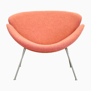 Orange Model F437 Slice Chair by Pierre Paulin for Artifort, 1950s