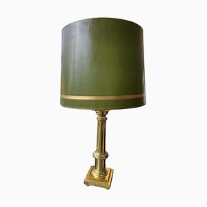 Green Table Lamps with Gold Stem, Set of 2