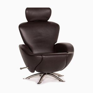 Dark Brown Leather Dodo Armchair by Toshiyuki Kita for Cassina