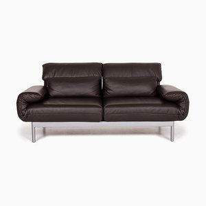 Dark Brown Leather Plura 2-Seat Sofa from Rolf Benz