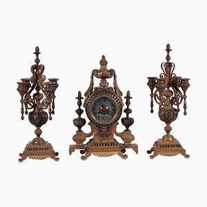 Orologio da tavolo in bronzo, Francia, XIX secolo, Francia