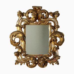 Specchio barocco antico in argento dorato