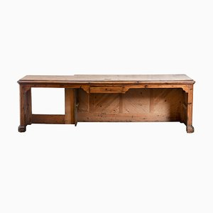 Late-19th Century Office Desk in Fir