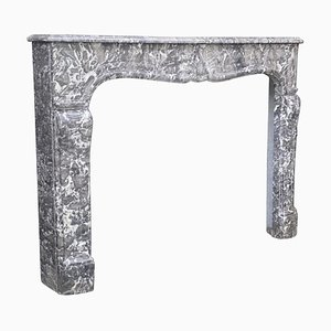 18th Century Louis XV Fireplace in Saint-Anne Grey Marble