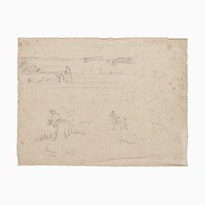 Studies - Original Bleistiftzeichnung - 20. Jahrhundert 20. Jahrhundert