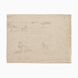 Studies - Original Pencil Drawing - 20th Century 20th Century