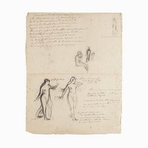 Studies - Original Pencil and Chacoal Drawing - 20th Century 20th Century